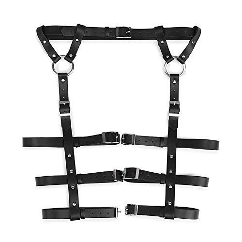 SHRTNM Sexy Punk-Leder-Waist Leg Caged Harness Gothic Garter Gürtel für Frauen