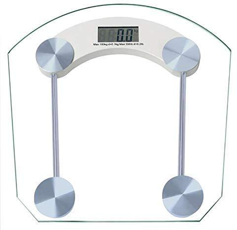 YXZQ Precision Electronic Scales Waage Glaswaage 100G / 180KG Gewichtsmessgerät Weiß
