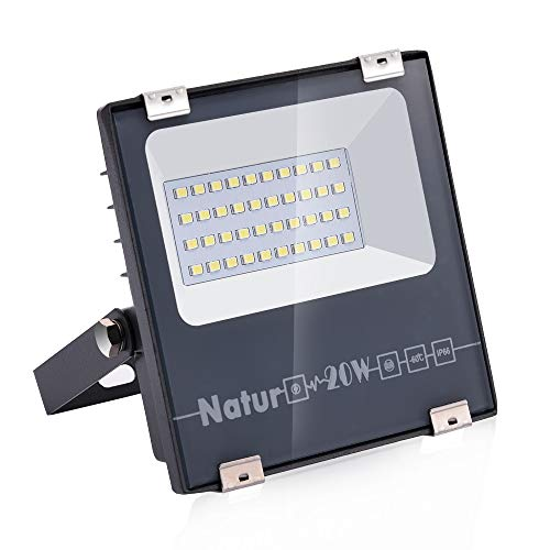 20W LED Foco Exterior de alto brillo,2000LM Impermeable IP66 Proyector Foco LED,...