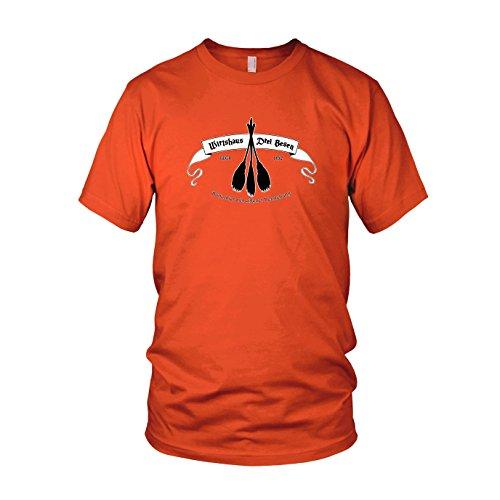 HP Wirtshaus Drei Besen - Herren T-Shirt, Größe: XXL, Farbe: orange