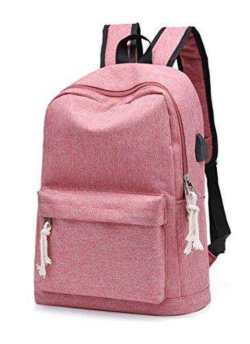 el Schulter Rucksack Große Kapazität Rucksack Student Tasche Freizeit Laptop Tasche,Pink (Klar Rucksäcke Pink)