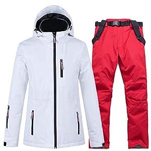 COAT-YYH Frauen Männer Skianzüge Winter Warm Berg Regen Jacke Windundurchlässiges Ski-Mantel Winddicht Wasserdicht Warm Outwear Snowsuit,Schwarz,XL