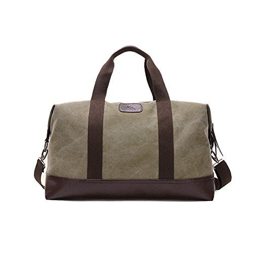 Plover's Tasche Gepäck Tasche Handtasche Grosse Kapazität Kreuzkörper Segeltuch für Geschäftsreise Reise Army-green