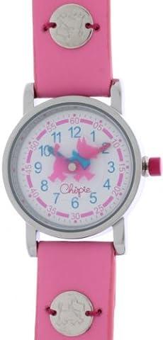 Chipie - 5210702 - Montre Fille - Quartz Analogique - Cadran - Bracelet Caoutchouc Rose