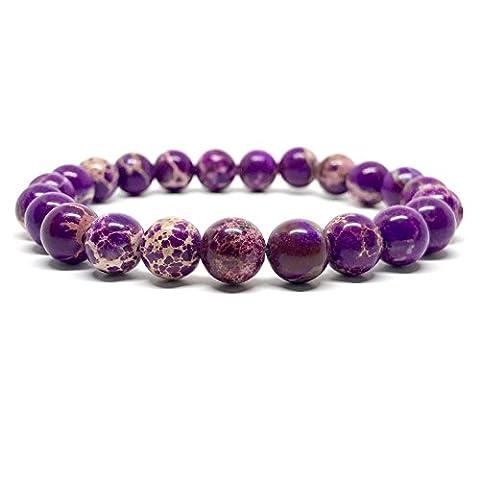 GOOD.designs Chakra Perlen-Armband aus Meeressediment Jaspis-Natursteinen