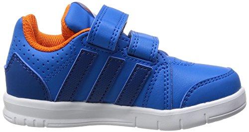 adidas Lk Trainer 7, Baskets premiers pas mixte bébé Bleu - Blau (Shock Blue S16/Eqt Blue S16/Orange)