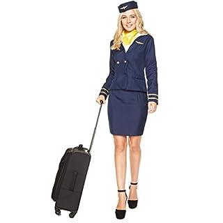Generique - Stewardess Kostüm für Damen in blau XS