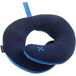 BCOZZY Kinnstütz-Reise-Nackenkissen - Unterstützt den Kopf, Hals und Das Kinn Sitzposition. EIN patentiertes Produkt. Erwachsenen Größe, Marineblau