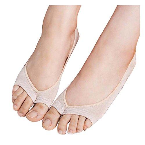 Black Temptation 2 Paar Peep-Toe-Socken, Zwei Zehensocken, Perfekt für Peep-Toe High Heel, A2 Heel Peep Toe