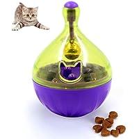 Qazwsxedc para Mascotas Entrenamiento del Gato PLT admiten Vaso de Fuga de Alimentos Bola del Ejercicio Diversión Tazón Juguetes, tamaño: 9 * 6cm