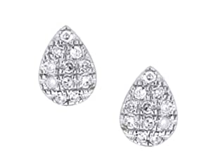 Carissima 9 ct White Gold 0.11 ct Diamonds Stud Earrings