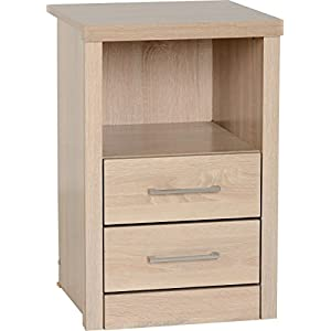 41Z1QRSZ0SL. SS300  - Seconique Lisbon 2 Drawer 1 Shelf Bedside Cabinet, Light Oak Effect, 479.95 x 649.95 x 99.95 cm