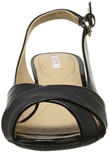 Geox D Floralie B, Sandales Femme Noir (C9999)