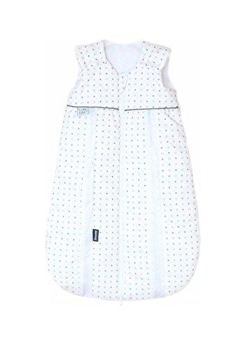 Odenwälder Prima Klima Thinsulate | Kinderschlafsack ärmellos | leichter Schlafsack für Jungen und Mädchen | Baby-Schlafsack atmungsaktiv, Größe:80, Design:Punkte beige
