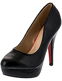 l, Escarpe Zapatos de vestir de Material Sintético para mujer