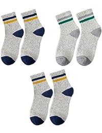GRHY Otoño e Invierno con pequeños zapatos blancos oriente de la cintura College calcetines de lana, hilo de un tamaño,2 1 Gris azul