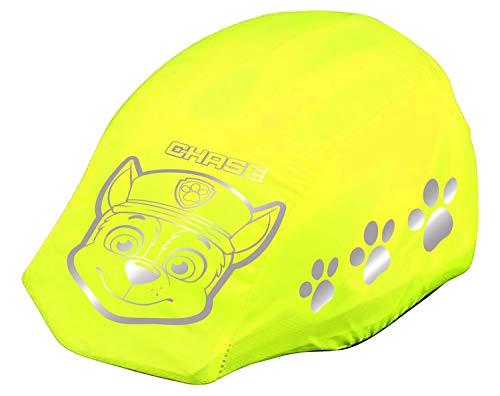 POS 31488 - Reflektierender Helm, Regenschutz, mit angesagtem Paw Patrol Motiv, Regenhülle für Fahrradhelme in neon-gelb mit Reflektoren, zur besseren Sichtbarkeit im Straßenverkehr