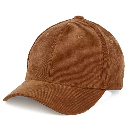 YPORE Men Womens Corduroy Cord Baseball Cap Adjustable Strap Back Trucker Hats Travel Sports Sunshade Gift - Back Adjustable Trucker Hut
