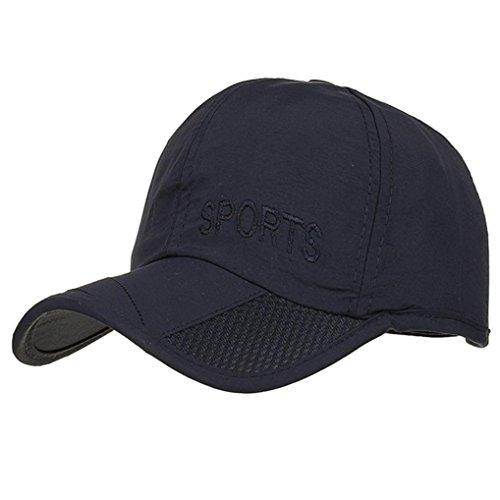 Preisvergleich Produktbild Sport Schöne und Jugendliche Frauen Männer Einstellbare Brief Stickerei Baseballmütze Ultraleicht Casual Cap Schatten (Marine)