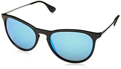 Rayban Unisex Sonnenbrille Rb4171 Gestell: schwarz Glas: blau verspiegelt 601/55), Medium (Herstellergröße: 54)