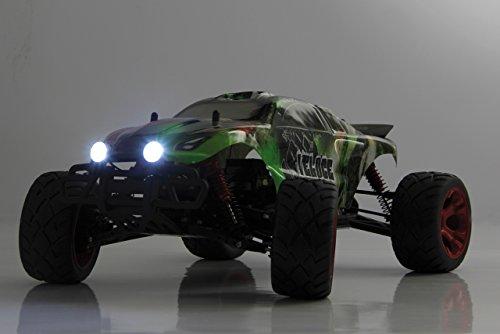 Veloce Monstertruck 1:10 4WD NiMh 2,4G LED - Allrad, Elektroantrieb, Akku, 35Kmh, Aluchassis, spritzwasserfest, Öldruckstoßdämpfer, Kugellager, Fahrwerk einstellbar, fahrfertig - 4