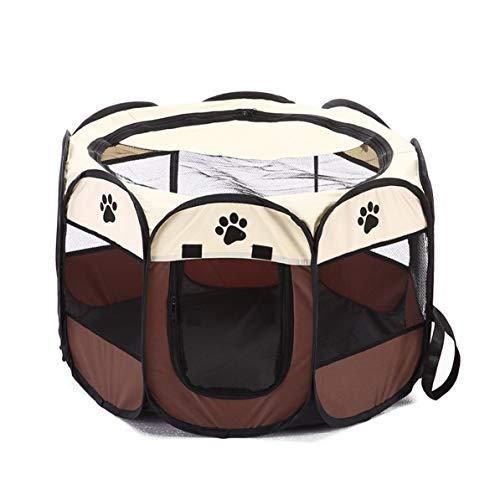 DoMoment Faltbarer Entwurf Breathabe Haustiere Hunde Hauszelt Einfache Bedienung Achteckiger Zaun Haustiere Käfig Outdoor Haustiere Zubehör