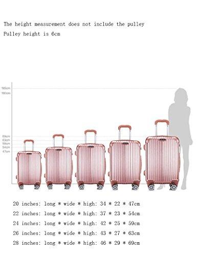 ABS + PC Gepäcktaschen Universal - Rundreise Koffer Passwort Trolley Taschen, 2 Stück ( Farbe : 2 , größe : 20 inch ) 5
