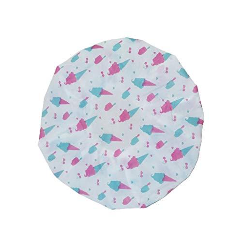 ECMQS Bonnet De Bain - Élastique Imperméable Bonnet De Bain Plastique Bonnet De Bain Dame Chapeau De Salon