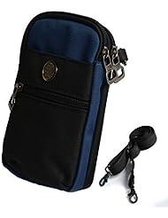 El Recorrido Al Aire Teléfonos Móviles Multifuncionales Para Usar El Cinturón De Deportes Corriendo A Prueba De Agua Bolsa De Teléfono Móvil Mujer Pequeña Bolsa,Blue2