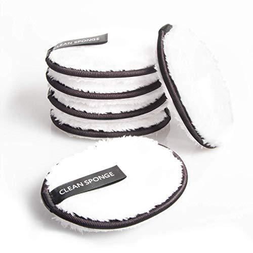 Make up Entferner Pads Waschbar Abschminktücher Mikrofaser zum Abschminken Wischt Gesicht Auge Sauber Wiederverwendbare Waschpads (6 Stück) -