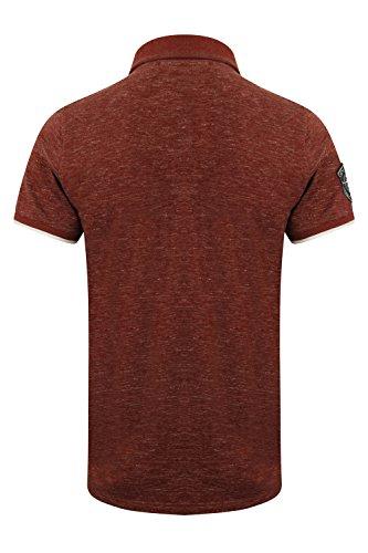 Tokyo Laundry Herren Blusen Poloshirt, Einfarbig Berling - Oxblood Red