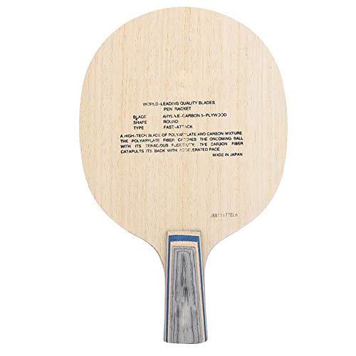 Dwawoo 1 PC Tischtennisschläger, professioneller Penhold/shakehand Ping Pong Schläger Holz Carbon Ping Pong Paddel Tischtennis Paddel für Ping Pong-Wettbewerb, Tischtennistraining(Shakehand)