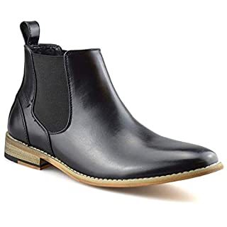 Step On Air Mens Memory Foam Chelsea Ankle Boots Casual Smart Formal Dealer Work Shoes Size[UK 12, Black]