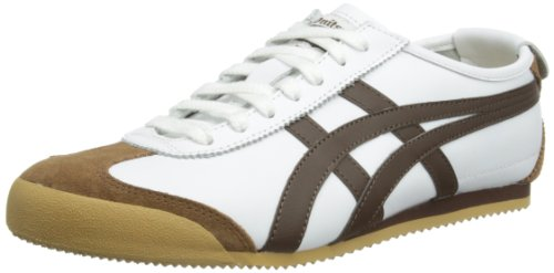 Onitsuka Tiger - Sneaker HL7C2-6505-49 Unisex - adulto, Multicolore (White/Brown), 45 (11 UK)
