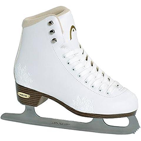 Cabeza de patinaje sobre hielo para mujer figura de ámbar Blanco blanco Talla:39.0
