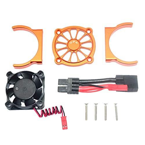 ZEELIY Motorkühler Ventilator Motorkühlgebläse für 1/10 TRAXXAS E REVO 2.0 RC Autoteil Multi-(Schwarz/Blau/Grün usw.)