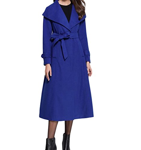 Tootlessly-Women Damen Jacke Gr. Large, blau Wool Blend Trench