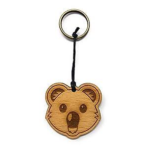 Schlüsselanhänger Koala aus Holz optional mit individueller persönlicher Gravur !