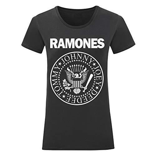 LaMAGLIERIA Camiseta Mujer Ramones - Camiseta 100% Algodon, S,...
