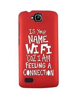 KolorEdge Back Cover For Huawei Honor Holly - Red (2437-Ke15124HonorHollyRed3D)