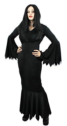 Kostüm Addams Family Set - ILOVEFANCYDRESS Gothic Familie HERRENHAUS Film UND Fernsehen Familien VERKLEIDUNG Halloween Karneval Fasching= Dame des HAUSES KOSTÜME-SCHWARZES Gothic Kleid IN DER GRÖSSE=XXXLarge