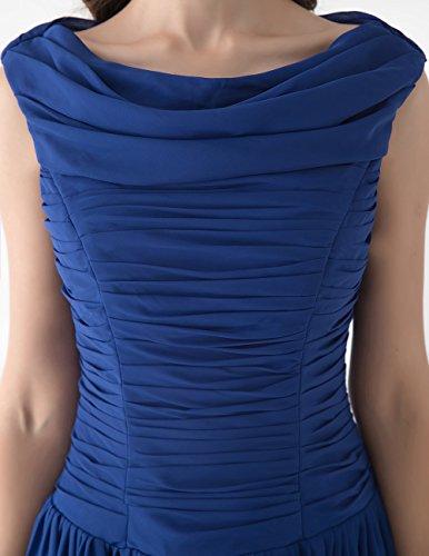 Dresstells Kurze Ballkleider Chiffon Cocktailkleider offizielle Abendkleider für Jugend Schwarz Größe 38 - 6