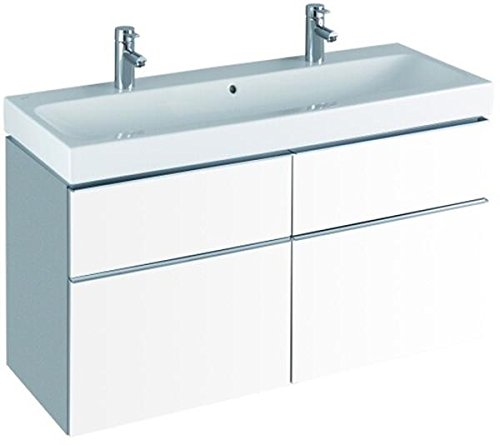 Preisvergleich Produktbild Keramag Waschbecken iCon, mit zwei Hahnlöchern 120x48,5cm KeraTect weiß(alpin)