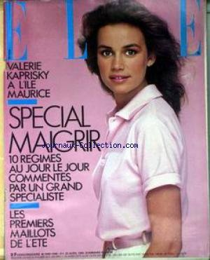 ELLE [No 1998] du 23/04/1984 - VALERIE KAPRISKY A L'ILE MAURICE - SPECIAL MAIGRIR - LES MAILLOTS DE L'ETE.