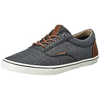 JACK & JONES Herren Jfwvision Chambray Mix Sneakers, Grau (Anthracite), 46 EU