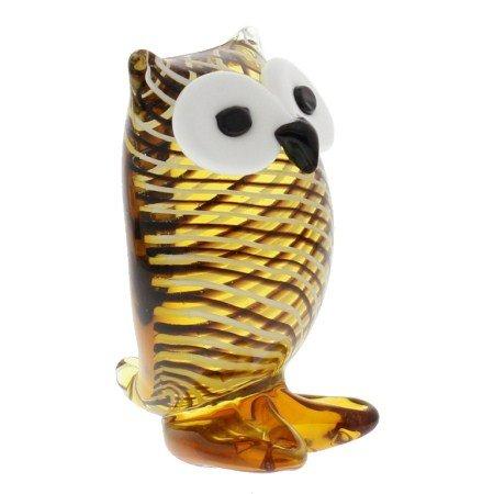 Juliana Objets d'art Glass Figurine Small Striped Owl