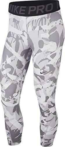 Camo Crop (Nike Damen Pro Forest Camo Crop Caprihose, Atmosphere Thunder Grey/Black, S)