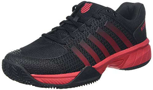 K-Swiss Performance Express Light HB, Zapatillas de Tenis para Hombre, Negro (Black/Lollipop/White 071-M), 44 EU
