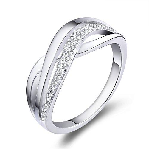 YL Anillo mujer 925 plata esterlina anillo cruces