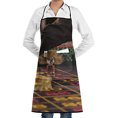 chef aprons Casino Betting Chips Aprons Bib for Mens Womens Heavy Duty Lace Adjustable Adult Kitchen Waiter Schürzen mit Taschen Heavy-duty-wok
